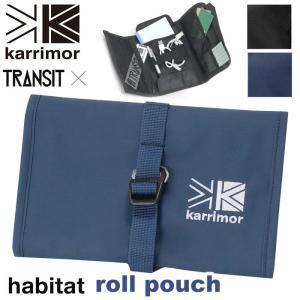 ポーチ karrimor カリマー habitat series roll pouch ハビタットシリーズ 通帳 パスポート 2020 軽量 登山 キャンプ 3つ折り ロールポーチ|pro-shop