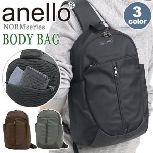 ボディバッグ anello アネロ 大きめ 縦型 ボディーバッグ 10L 斜めがけ メンズ レディース サブバッグ 旅行 フェス レジャー 水に強い A4サイズ 正規品|pro-shop