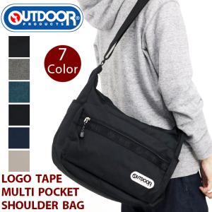 ショルダーバッグ OUTDOOR PRODUCTS アウトドアプロダクツ ロゴテープ マルチポケット ショルダー バッグ メンズ レディース ブランド 通勤 通学|pro-shop