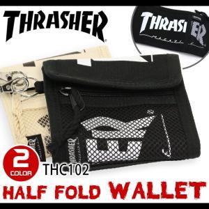大人気スケートボードブランドTHRASHERより、軽くて機能的な折り財布が仲間入り! 素材は丈夫なコ...