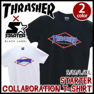 メンズ Tシャツ コラボ スラッシャー THRASHER 半袖 おしゃれ STARTER スターター 送料無料 ブランド レディース セール|pro-shop