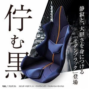ポイント5倍 アメージングGT アルティメイト 車の腰痛対策におすすめクッション 世界初の体型、悩みに合わせフルカスタマイズ  《イタリアン・ブラック》|pro-tecta-shop