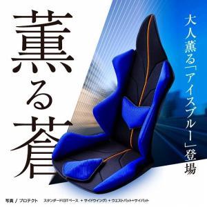 ポイント5倍 アメージングGT プロテクト 車の腰痛対策におすすめクッション 世界初の体型、悩みに合わせフルカスタマイズ  《イタリアン・ブルー》|pro-tecta-shop