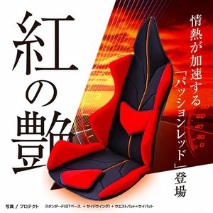 ポイント5倍 アメージングGT プロテクト  車の腰痛対策におすすめクッション 世界初の体型、悩みに合わせフルカスタマイズ  《イタリアン・レッド》|pro-tecta-shop