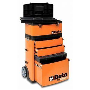 ◆大容量の金属製ツールボックスでありながら、移動に便利なモデルがこのツールトローリーです。<b...