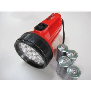 強力ライト レッドアイ 13LED乾電池付|pro-yama