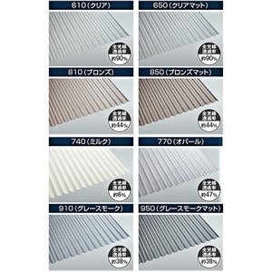 ポリカ波板 7尺 タキロン 各色 10枚単位 |pro-yama