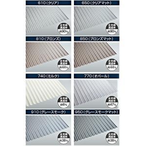 ポリカ波板 8尺 タキロン 各色 10枚単位 |pro-yama