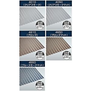 タキロン ポリカ波板熱線カット 8尺 10枚単位 各色|pro-yama