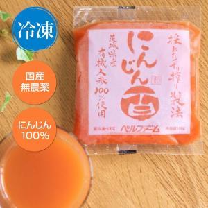 無添加 人参ジュース 冷凍 無農薬 100g×30袋 採れたてすり搾り製法 国産 にんじんジュース ニンジンジュース 採れたてすり搾り製法|proactive-shop