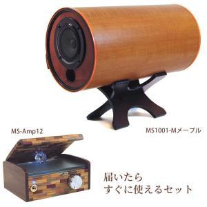 波動スピーカーMS1001-M(メープル) & 専用MSオリジナルアンプ セット  (M'S System エムズシステム スピーカー)送料無料 proactive-shop
