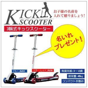 オリジナル キックボード キックスケーター  前輪2輪タイプ/名いれ|probrand