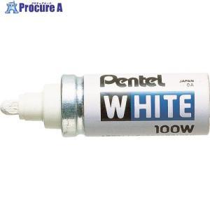 ペンテル ホワイト太字(工業用マーカー) 10本X100-WD ▼000-9334ぺんてる(株)|procure-a