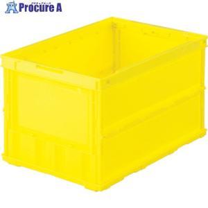 TRUSCO 薄型折りたたみコンテナ 50L イエロー /黄色TR-O50B Y ▼344-9394[1044][APA] トラスコ中山(株) 【代引決済不可】|procure-a