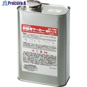 サクラ 鉄鋼用マーカー補充インキ 白HPKK1000ML-50W ▼384-8078(株)サクラクレパス|procure-a