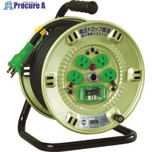 日動 100V漏電遮断器付電工ドラム 3.5SQNP-EB24F ▼814-7523日動工業(株)|procure-a