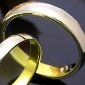 甲丸つや有りtitan 鍛造 結婚指輪 (サイズ16号以上)チタンカラー:レモンイエロー