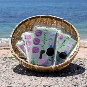 糸島産ふともずく3袋セット 糸島×博多女子高校商品開発プロジェクト 送料別途要確認|product-factory-jp