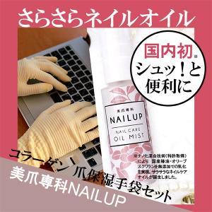 ネイルケア - ネイルオイルミスト美容液50ml & 爪保湿保護グローブ・手袋 for 自宅用セット  - プレゼントにおすすめ|product-factory-jp