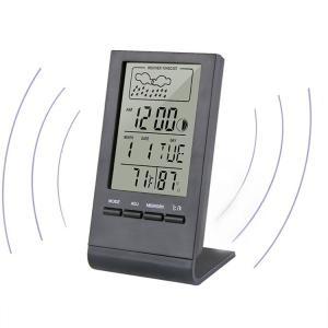 温湿度計 おしゃれ デジタル マグネット 温度計 アラーム 湿度計 快適レベル表示 気象計 温度湿度...