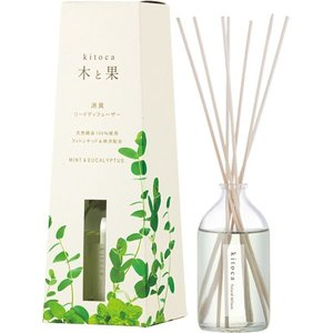 アロマ ディフューザー 天然精油 kitoca 木と果 天然精油100%使用 リードディフューザー ...