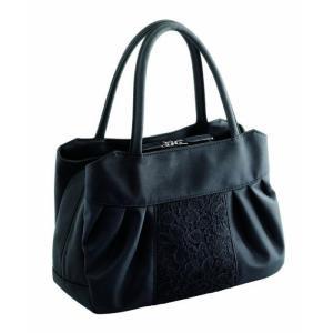 冠婚葬祭 ブラックフォーマルバッグ ちょっと大きめ フォーマルバッグ バッグ ハンドバッグ|profit