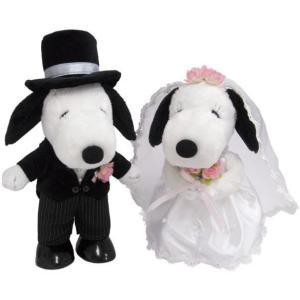 結婚祝い ブライダル プレゼント SNOOPY スヌーピー&ベル ウェディング 洋風 ぬいぐるみ L 182076|profit