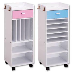 【あすつく】【送料無料】このラックに学校の用意が全て収納!引き出しパネルはブルーとピンクの2色付、男...