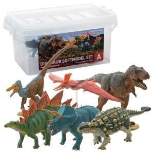 玩具 恐竜 フィギュア ティラノサウルス トリケラトプス ギフト 誕生日プレゼント DINOSAUR SOFTMODEL 恐竜 ダイナソーソフトモデルセットA FDW-101|profit
