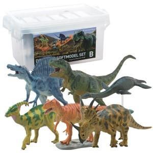 玩具 恐竜 フィギュア ティラノサウルス ギフト 誕生日 DINOSAUR SOFTMODEL 恐竜 ダイナソーソフトモデルセットB FDW-102 profit
