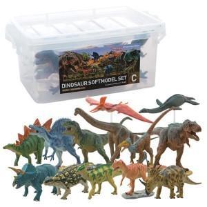 フィギア DINOSAUR SOFTMODEL 恐竜 ダイナソーソフトモデルセット C FDW-103/おもちゃ 玩具|profit