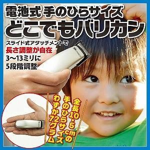 バリカン 散髪 家庭用 電池式手のひらサイズ どこでもバリカン profit