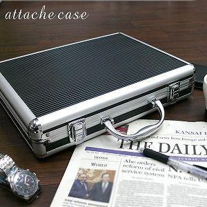 アルミアタッシュケースA4サイズ ブラック/シルバー|profit
