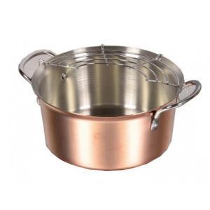 パール金属 HB-1379 銅職人 天ぷら鍋14cm 純銅調理器具。|profit