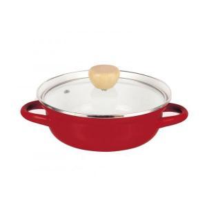 パール金属 HB-931 プレデンシア ホーローガラス蓋卓上鍋18cm(レッド) ホーローの卓上鍋。 profit