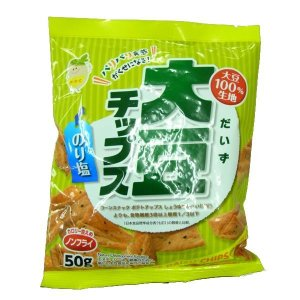 ノンフライ!  大豆チップス のりしお 50g×10袋セット|profit