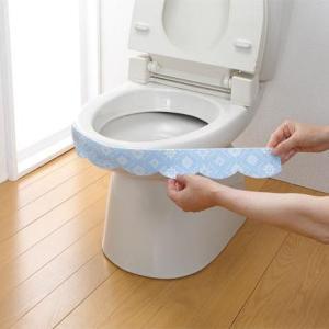 サンコー おしっこ垂れ防止テープ 使い捨てタイプ 幅広 モロッコタイル 4枚入 AF-41 貼るだけ簡単!!便器のフチを伝う尿を吸い取ります!!|profit