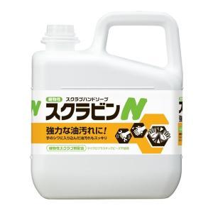 サラヤ 植物性スクラブハンドソープ スクラビンN 5kg 23155 環境と手肌に優しく油汚れを落とす植物性スクラブハンドソープ profit