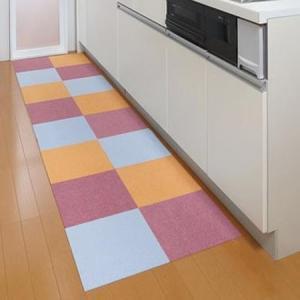 サンコー おくだけ吸着 床暖房対応 撥水タイルマット 30×30cm 8枚入|profit
