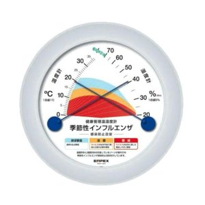 EMPEX(エンペックス気象計) 健康管理温湿度計 季節性インフルエンザ感染防止目安 TM-2582|profit