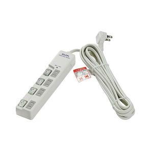 ELPA(エルパ) 耐雷サージ LEDランプ スイッチ付タップ(上差し) 5m 4個口 ホワイト WLS-LU450MB(W)|profit