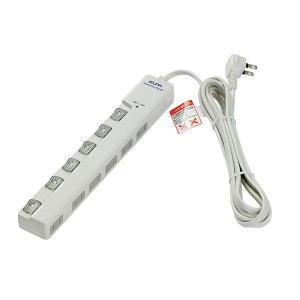 ELPA(エルパ) 耐雷サージ LEDランプ スイッチ付タップ(横差し) 3m 6個口 ホワイト WLS-LY630MB(W)|profit