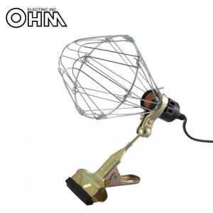 OHM ガードライト 屋内用 電球別売 HS-L2MSW-IN 強力クリップで簡単に設置できる屋内用ライト。|profit