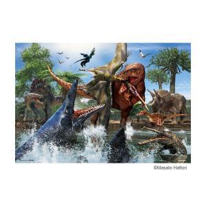 学べるジグソーパズル 40ピース ティラノサウルス VS モササウルス 40-006 profit