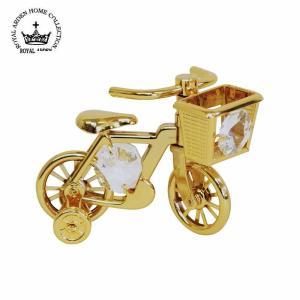 【5,000円以上で送料無料】スワロフスキーが付いた自転車のオーナメント♪スワロフスキークリスタルが...