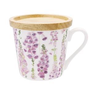 フェリー 蓋付マグ ジギタリス F 110942 花柄が色鮮やかでかわいらしいマグカップ。|profit