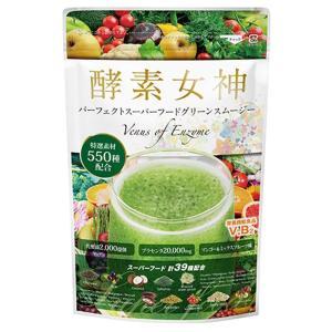 酵素女神 パーフェクトスーパーフードグリーンスムージー 専用シェイカー付き 240g|profit