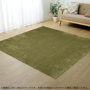 ラグ カーペット (ホットカーペット対応) 『イーズ』 グリーン 約185×240cm 3畳 3963479 使いやすさにこだわったラグ。|profit