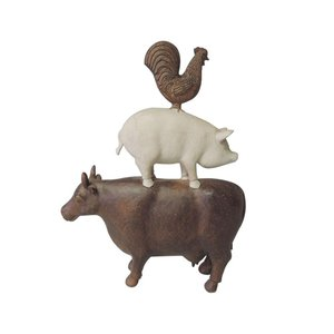 【5,000円以上で送料無料】動物モチーフのオブジェ。牛・豚・鶏の可愛らしいオブジェです。お部屋やお...