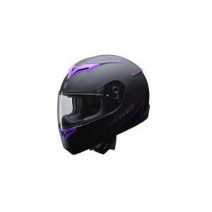 リード工業 LEAD ZIONE フルフェイスヘルメット パープル Lサイズ シンプルながらインパクトのあるグラフィックモデル。|profit